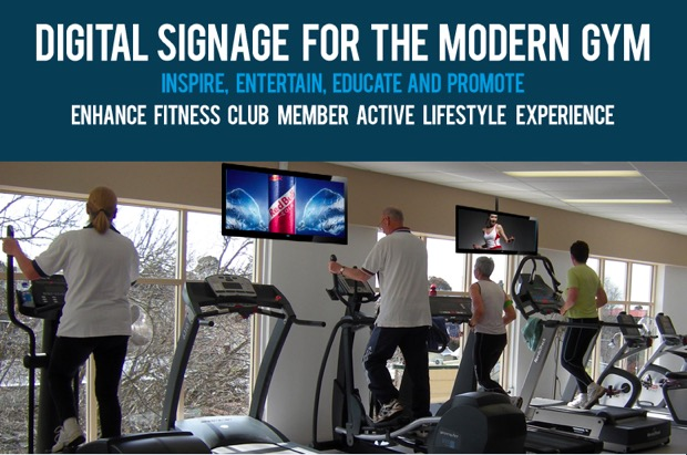 gym and fitness center digital signage